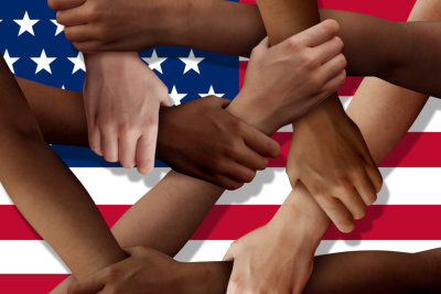 American diversity teamwork as a group