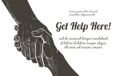 Helping hand concept